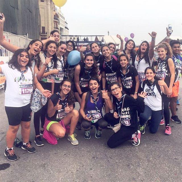 Les Guides au marathon ☘💪🏻 (Beirut Marathon)