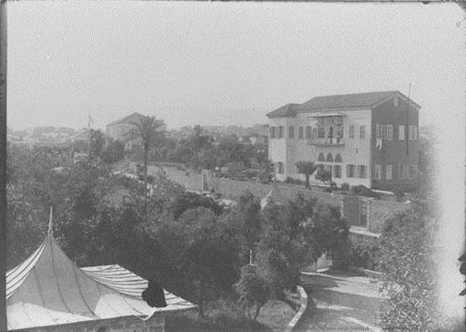 AUB Medical Gate and Old Hospital Administration Building  1890s