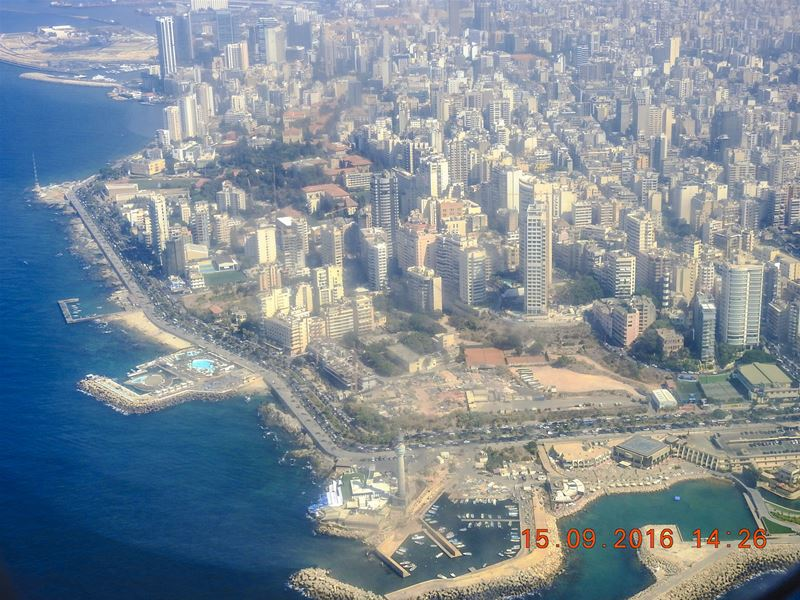 Beirut from sky