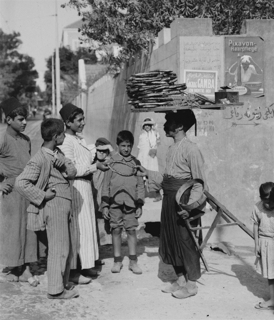Kaak vendor in Beirut 1900s