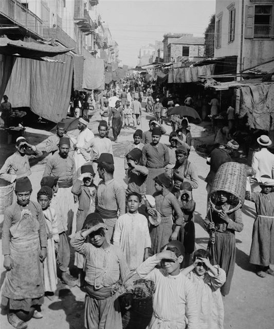 Beirut Vegetable Market 1900s