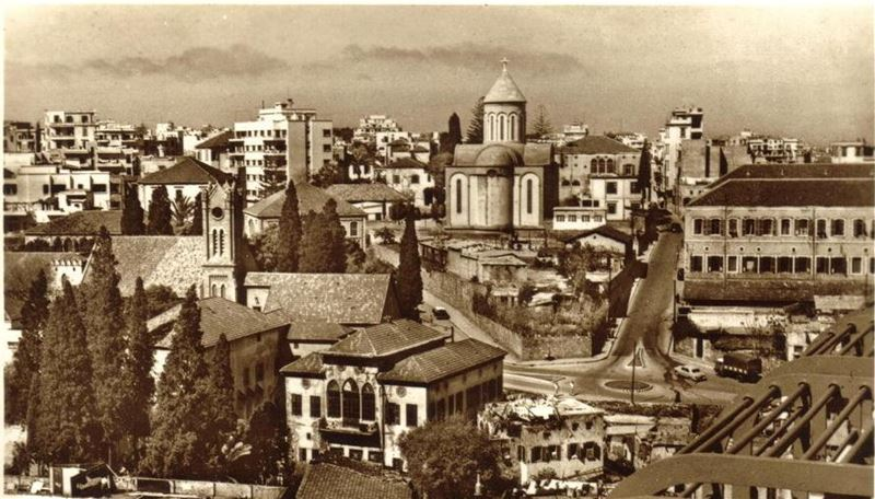 Grand Serail and Armenian Church  1950s