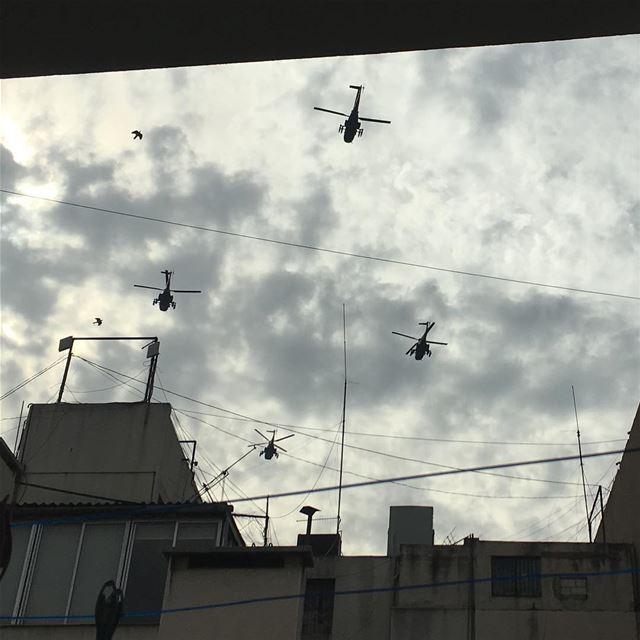 Independence Helicopter (Hamra street , Beirut - شارع الحمرا ، بيروت)