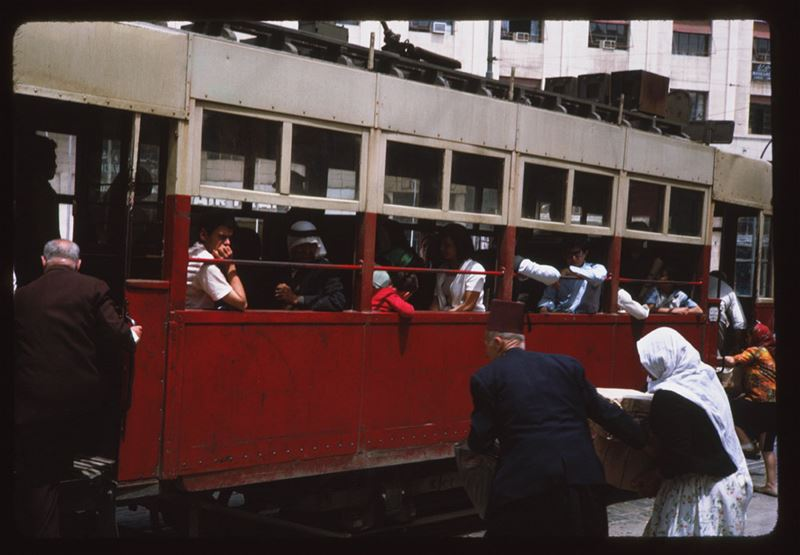 Beirut Tram on Parliament Square 1965