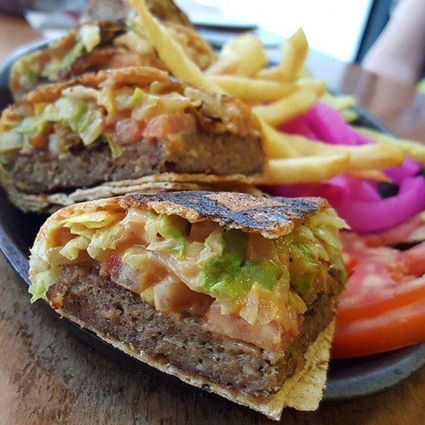 The famous Saj Burger at @tabliyitmassaad 😍😍😍🍴 A must try! (Tabliyit Massaad)