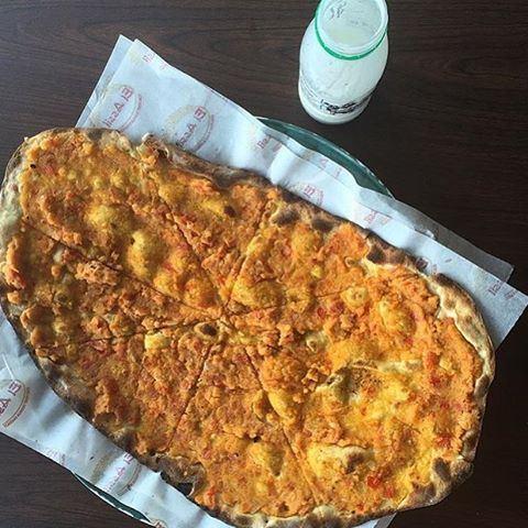 The famous Lebanese breakfast: Keshek 🍴☀️ Enjoyed with Laban 👍 keshek lebanoneats