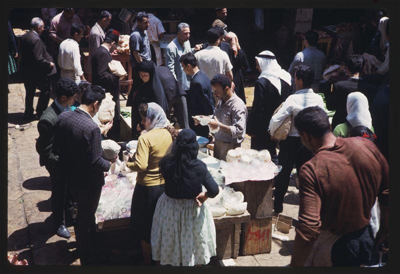 Street Market near Parliament Square 1965