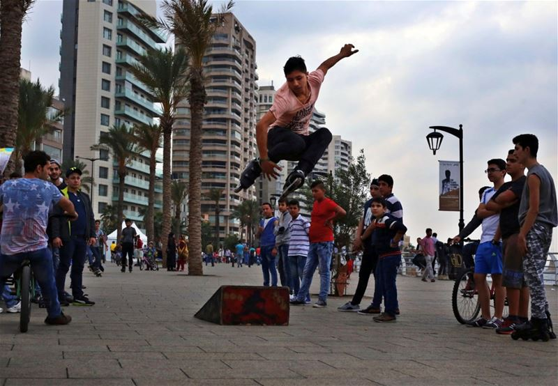 Roller Skater in (Beirut Waterfront)