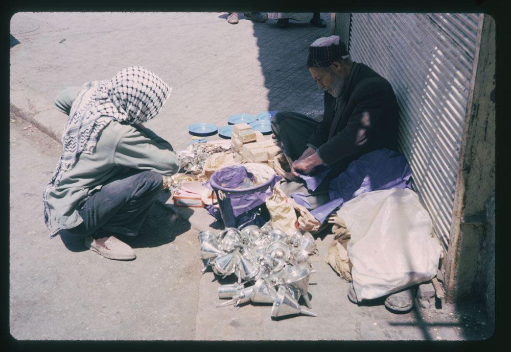 Sidewalk merchant on Parliament Square 1965