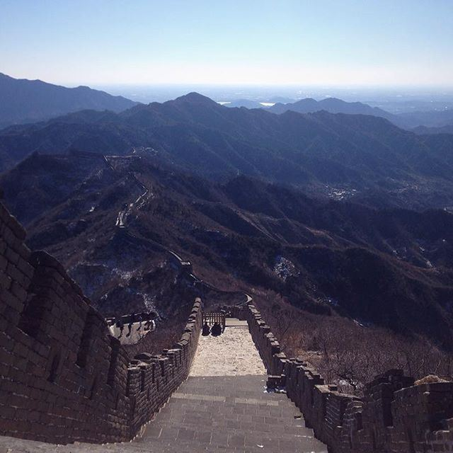 Here it comes - the Great Wall of China! (Beijing, China)