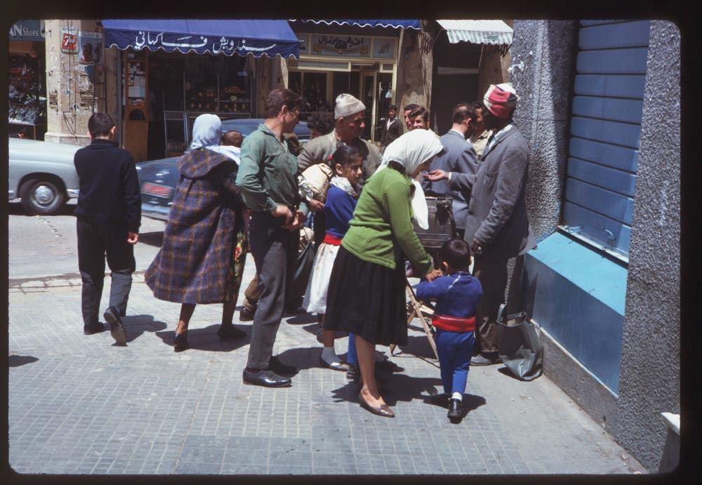 Sidewalk Vendor on Parliament Square 1965