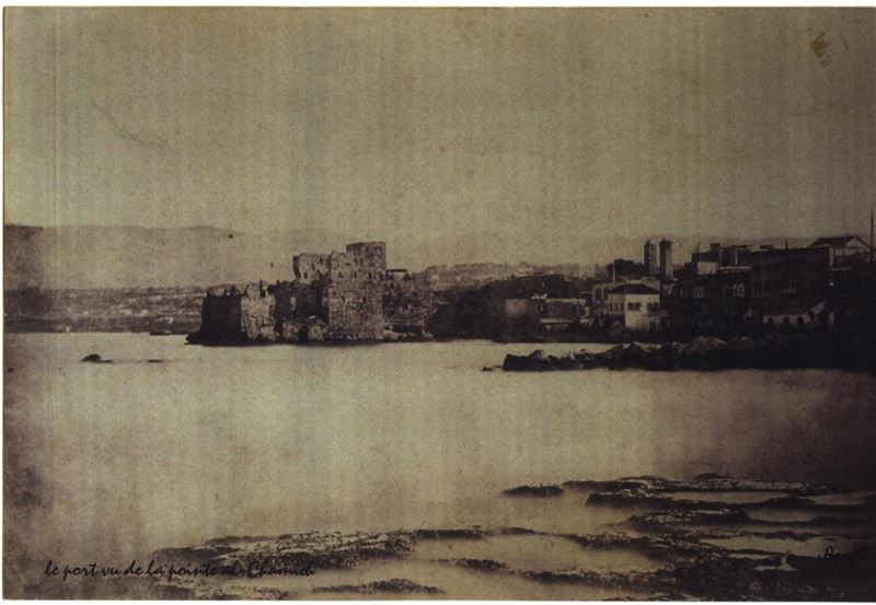 Beirut Port and the remainings of the Fortress 1870