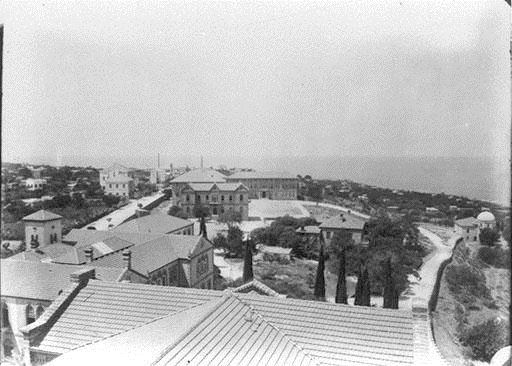 AUB View From College Tower Towards West  1890s