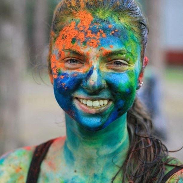 Праздник красок на фестивале РеФреш, в г. Брянск.
