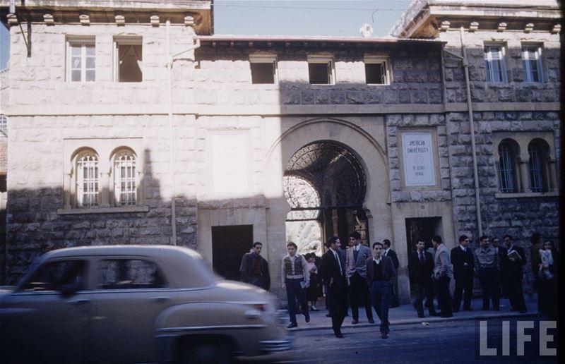 AUB Main Gate 1953