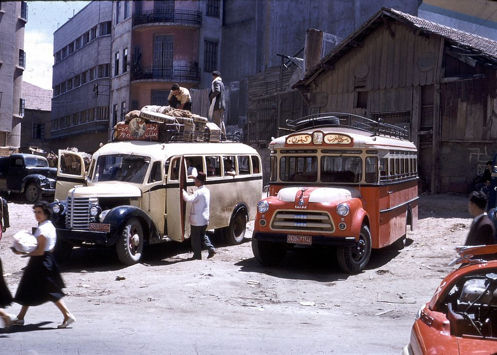 Buses in Beirut 1950s