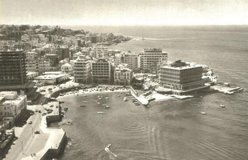 Phoenicia Hotel under construction  1961