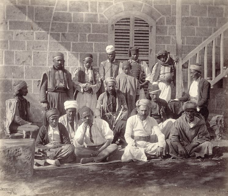 Beirutis at the Prince of Wales's Party in Beirut  1862
