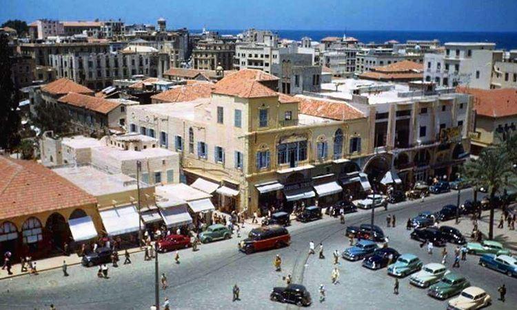 بيروت ساحة البرج ١٩٤٨ ،Beirut Borj Square 1948 .