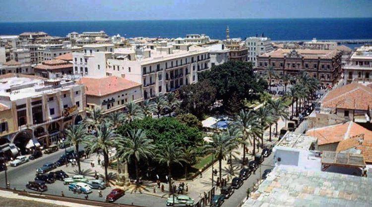 بيروت ساحة البرج ١٩٤٨