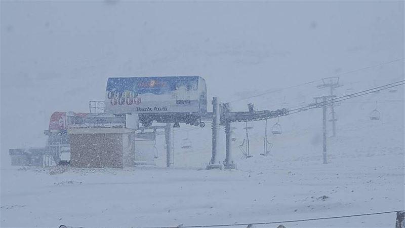 Snowing in Piste Warde Kfradebian