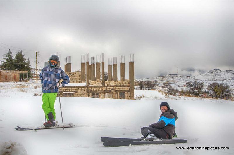 First Ski in 2016-17 Season (Laklouk, Lebanon)