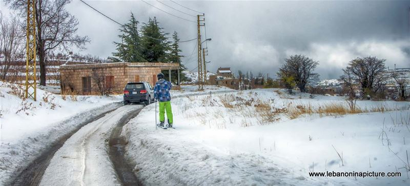 First Ski in 2016-17 Season (Laklouk, Lebanon)