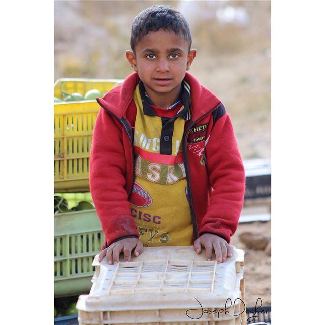 طفل سوري بالرغم من الحرب والتهجير! بس شاف الكاميرا ضحك ضحكة حزينة كلها امل (Kfardebian)
