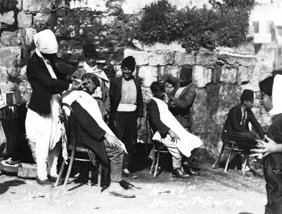 Barbers in Beirut  1920