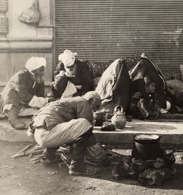 Beiruti Men Cooking on the Street  1910s