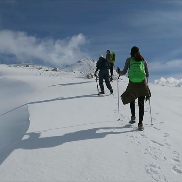 Hiking in the Snow (Mzaar, Lebanon)