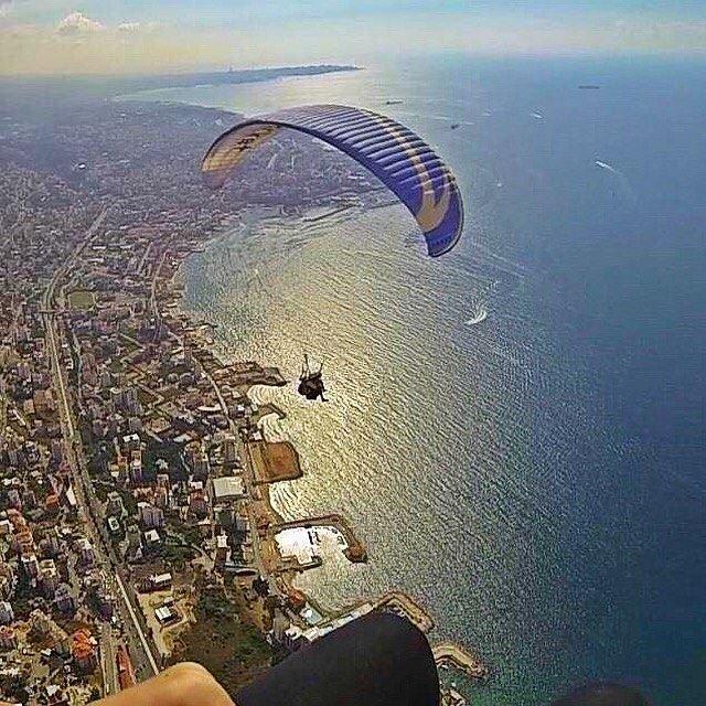 Paragliding from Harissa (Lebanon)