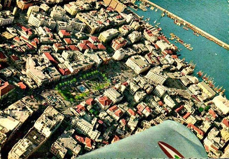 Beirut Aerial View Martyrs Square 1966