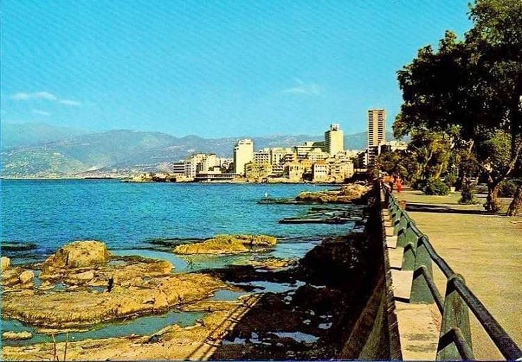 Beirut Corniche Ain Al-Mrayseh 1973
