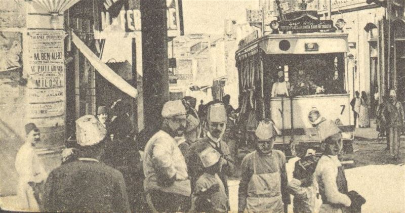 Old tramway near Bab Idriss 1910s