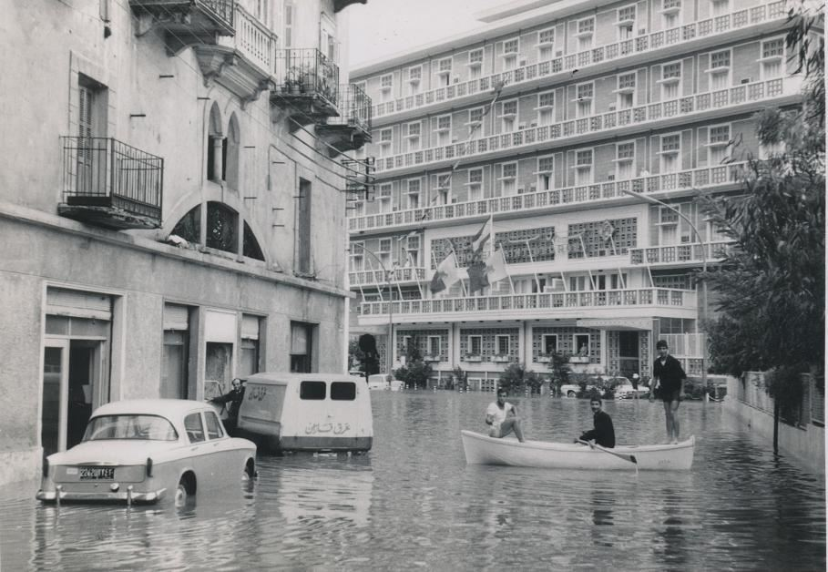 Flooding near Hotel St. George 1965