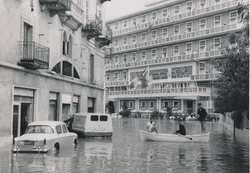 Flooding near Hotel St. George 1965