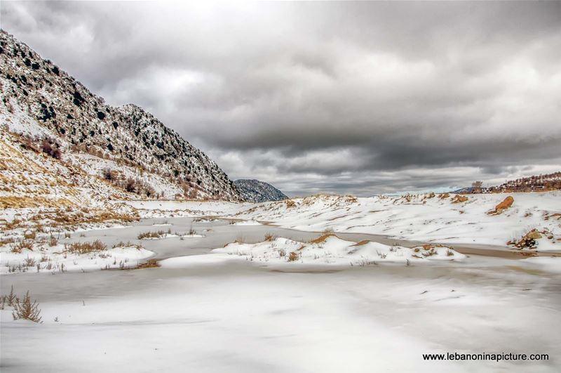 Frozen Lake in the Road Between Lakouk and Tanourine (Laklouk, Lebanon)