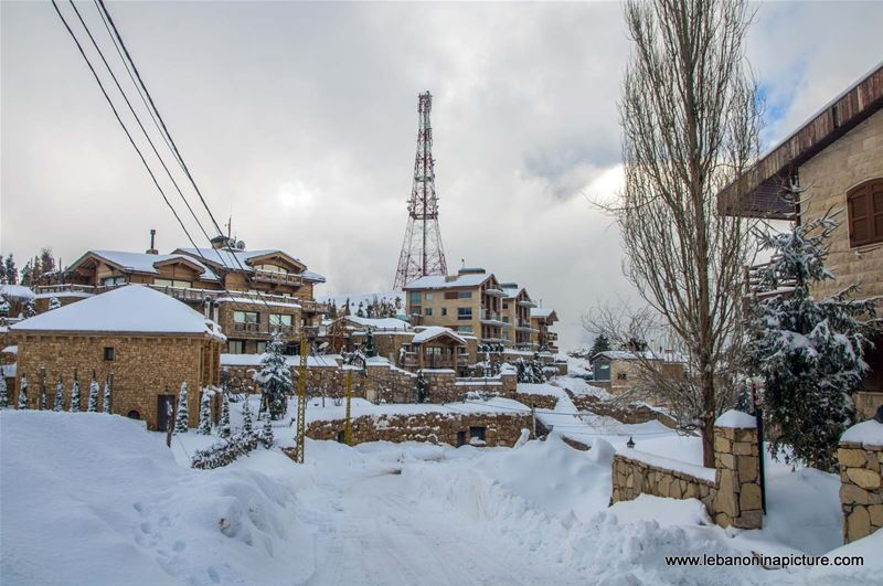 Chalets and Villas Covered in Snow Projecting the Lovely Lebanese Winter (Kfardebian, Lebanon)