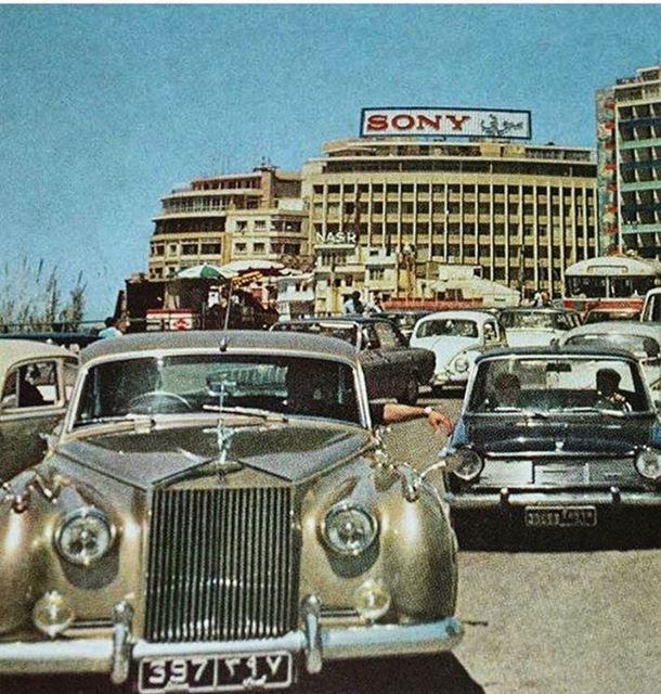 بيروت الروشة ١٩٧٠،Beirut Raouche 1970 .