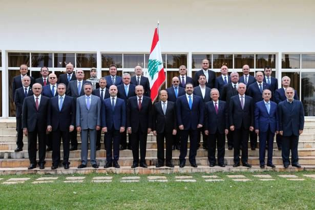 The first session of the new Lebanese government in the Baabda Palace