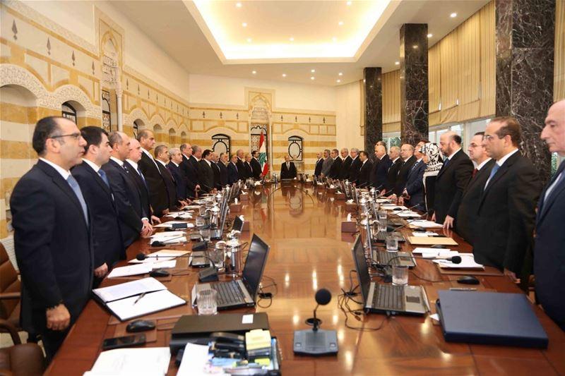 الجلسة الأولى للحكومة في قصر بعبدا