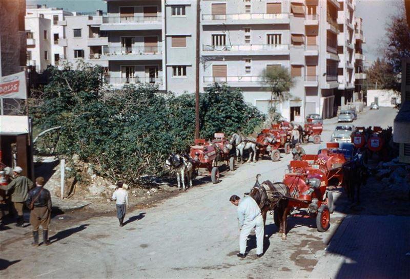 محطة تعبئة الكاز ، بيروت الدورة خلف محطة موبيل ١٩٥٩ .