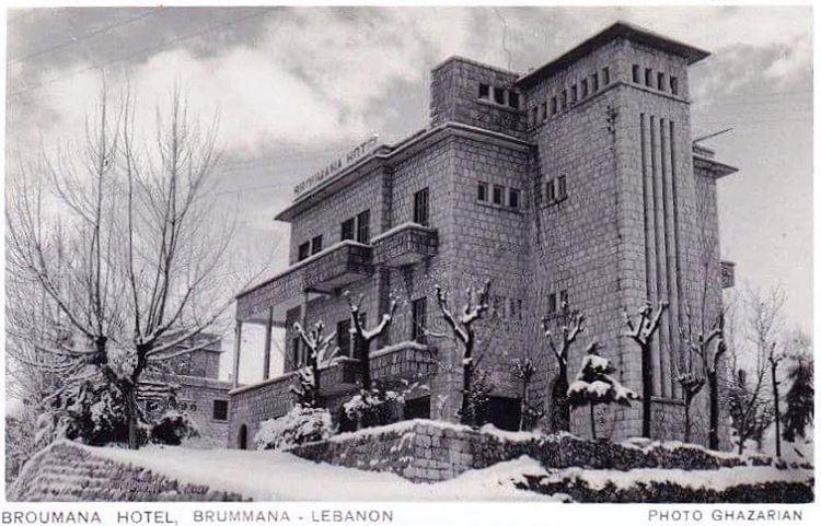 BROUMANA HOTEL 1956 ,Photo GHAZARIAN