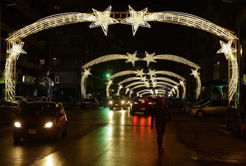 The Beautiful Christmas Decorations of Beirut (JOSEPH EID / AFP)