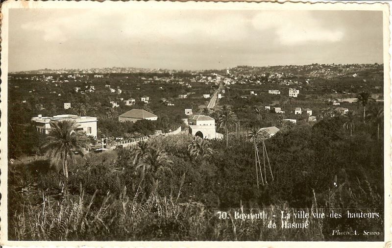 Beirut view from Hazmieh 1910s