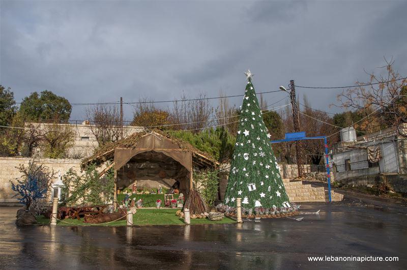 Christmas Decorations Near St. Sarkis and Bakhos Church (Zaaitra, Lebanon)
