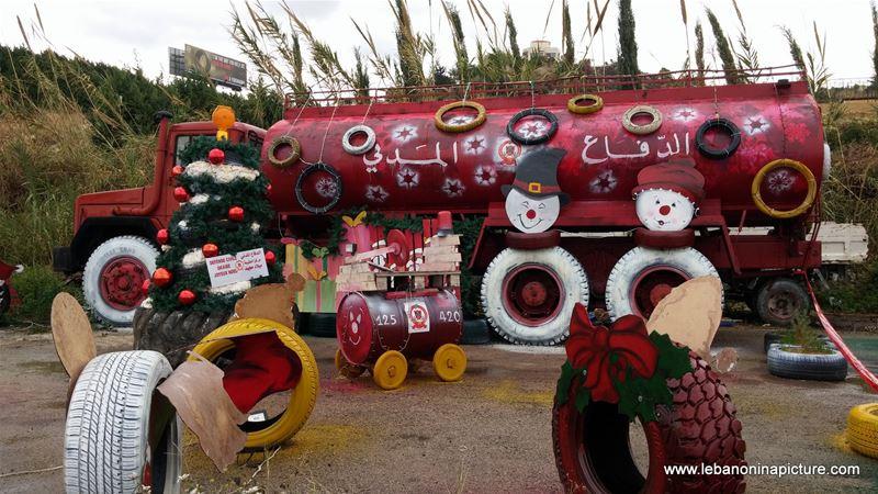 Civil Defense Christmas Decorations (Okaybe, Lebanon)