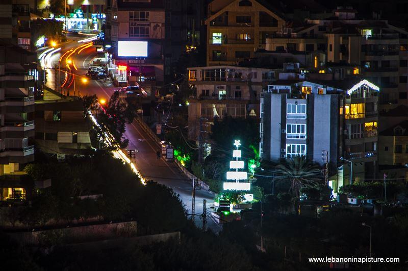 Ghazir Street at Night (Ghazir, Lebanon)