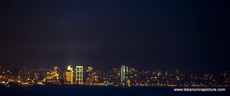 Zaytouna Bay Zoom In at Night (Zeituna Bay, Beirut, Lebanon)